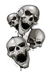 Decrepit skulls
