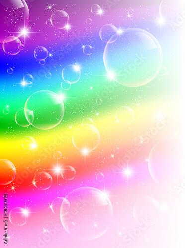 虹 背景 シャボン玉