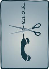 interruzione linea telefono