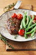 Rustic steak with vegetables