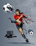 Fototapeta Abstract image of soccer player