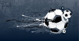 Abstract image of soccer balls