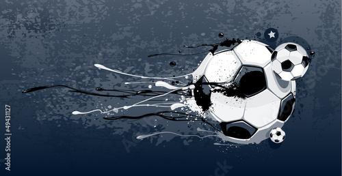 Fototapeta Abstract image of soccer balls
