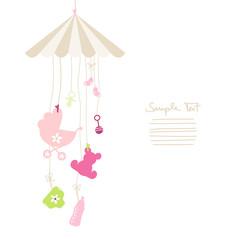 Mobile Hanging Baby Symbols Girl