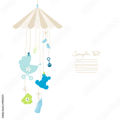 Mobile Hanging Baby Symbols Boy
