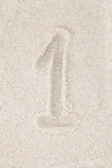 Concept backgrounds - Numbers on sand