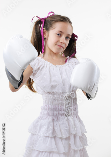 young fighter girl