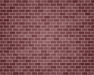 Wall of different red bricks