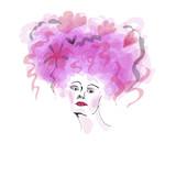 Fototapete Frauen - Frisuren - Frau