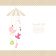 Mobile Hanging Baby Symbols Girl Dots