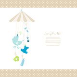 Mobile Hanging Baby Symbols Boy Dots