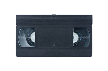 Video cassette isolated on white background. Video tape