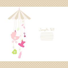 Mobile Hanging Baby Symbols Girl Dots