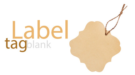 label (tag) isolated on white background