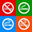 Stickers multicolored - No smoking area symbol