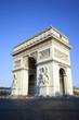 vertical view of famous Arc de Triomphe