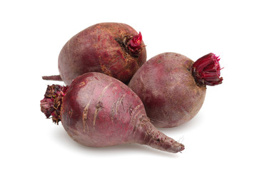 Three red beet