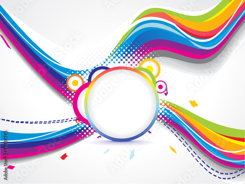 abstract colorful cross  wave background