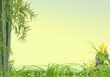 décor asiatique détente galet bambou herbes fleur