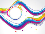 abstract dotted colorfull wave background