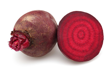 Half red beet and red beet