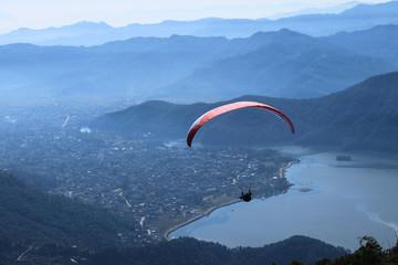 Paragliding in Nepal, an adventurous sport