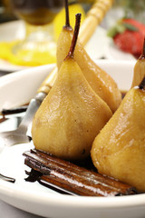 Poached Pears And Cinnamon