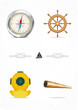 Vector set of nautical design elements