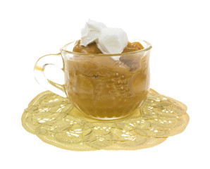 Butterscotch With Whip Cream Side View