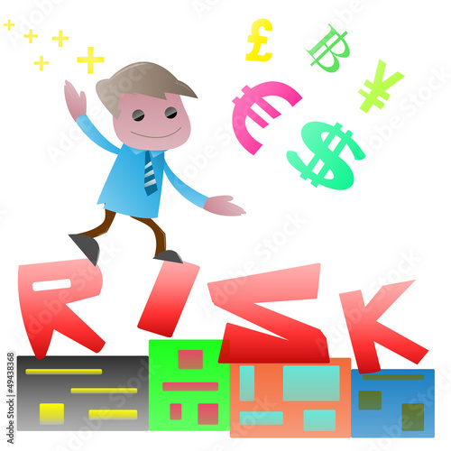 Run up on the risk , Cartoon vector EPS10