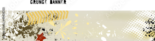 grungy banner,free copy space,vector