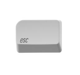 button Esc white computer keyboard