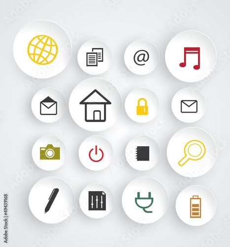 Modern web icons set