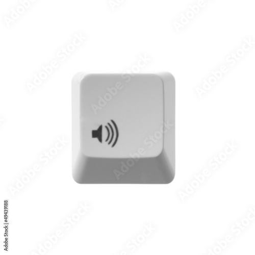 sound button white keyboard
