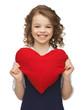 girl with big heart