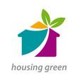 Vector logo housing green