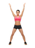 beautiful sporty woman doing exercise