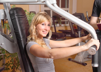 training in a fitnessstudio