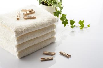 タオルと洗濯バサミ