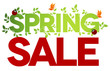 Spring sale, isolated on white