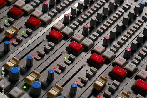 mixer in the recording studio