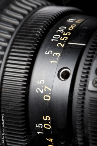 Television Lens focussing ring close-up