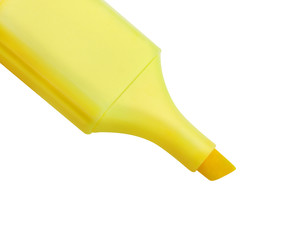 Yellow highlighter isolated on white background