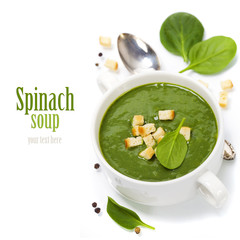 Traditional Spinach soup