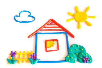 Plasticine small house