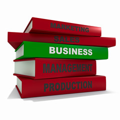 Pile of books - business