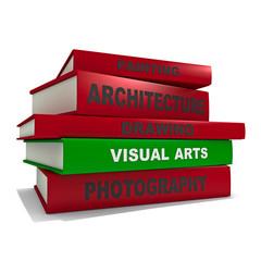 Pile of books - visual arts