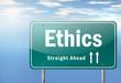 "Highway Signpost ""Ethics"""