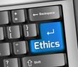 """Keyboard Illustration """"Ethics"""""""