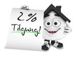 Kleines 3D Haus Schwarz - 2 Prozent Tilgung